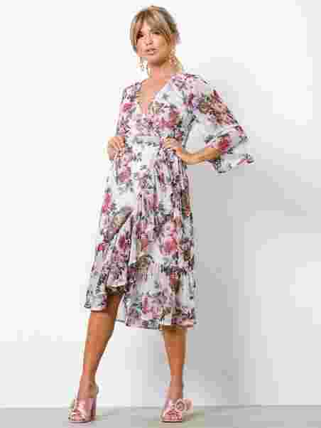 Frill Wrap Dress - Nly Trend - Floral - Party Dresses - Clothing ... 8e74d9763