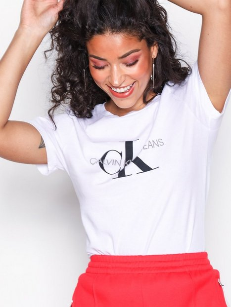 Billede af Calvin Klein Jeans Core Monogram Logo Regular Fit Tee T-shirt Bright White