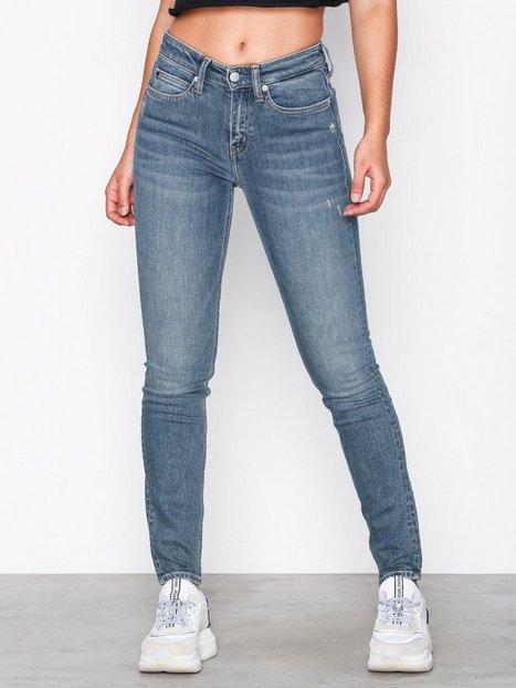 Billede af Calvin Klein Jeans CKJ 011: Mid Rise Skinny (West Cut) Slim fit Denim Blå