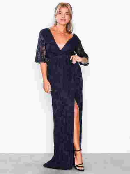 c8548606 Lace Gown Nly Wrap Eve Kvinne Forever Navy Festkjoler Klær 0wXn8OPk