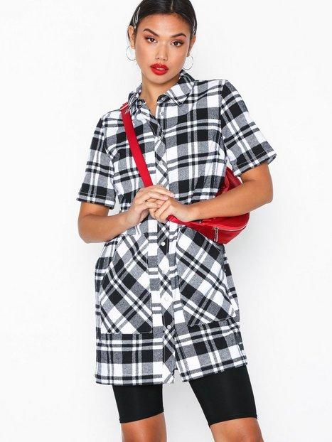 Billede af Calvin Klein Jeans Check Tee Dress Loose fit dresses Bright White