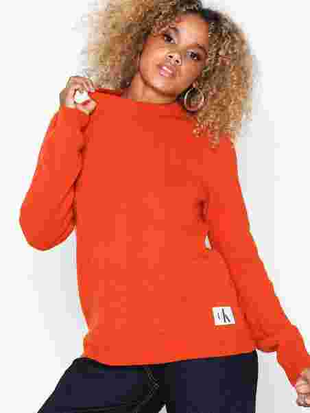 c5a37d43 Shetland Wool Crew Neck - Calvin Klein Jeans - Red - Jumpers ...