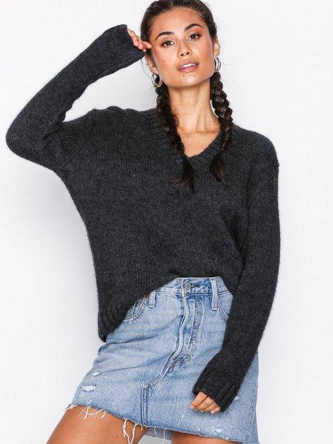 Billede af Calvin Klein Jeans Alpaca Blend V-Neck Strikkede trøjer Grey