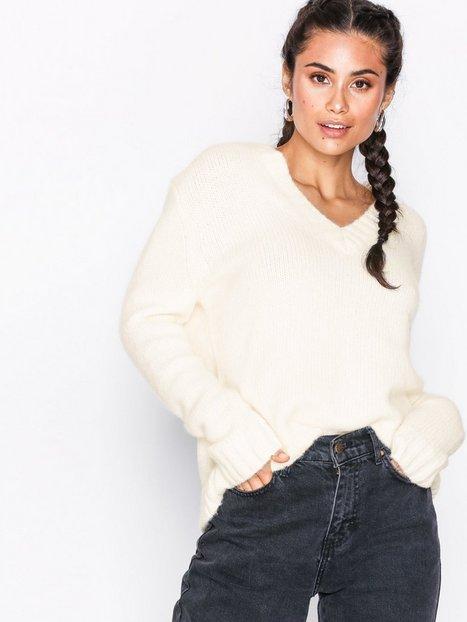 Billede af Calvin Klein Jeans Alpaca Blend V-Neck Strikkede trøjer Egret