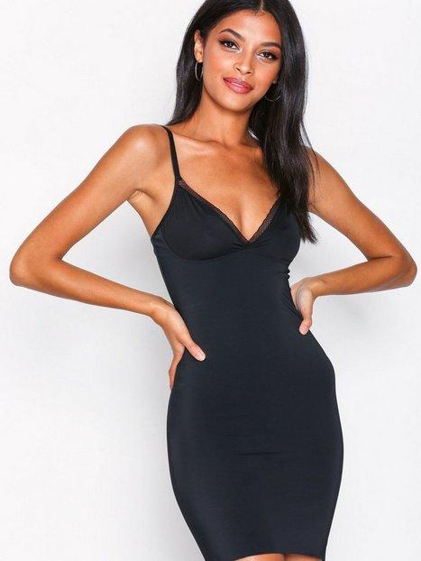 Billede af Lindex Shaping Dress Sandra Lace Toppe & Bodys Sort