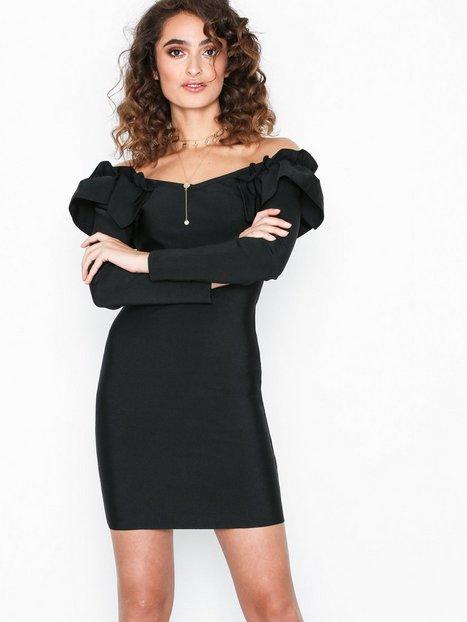 Billede af WOW Couture Ivy Ruffle Off Shoulder Dress Kropsnære kjoler Black