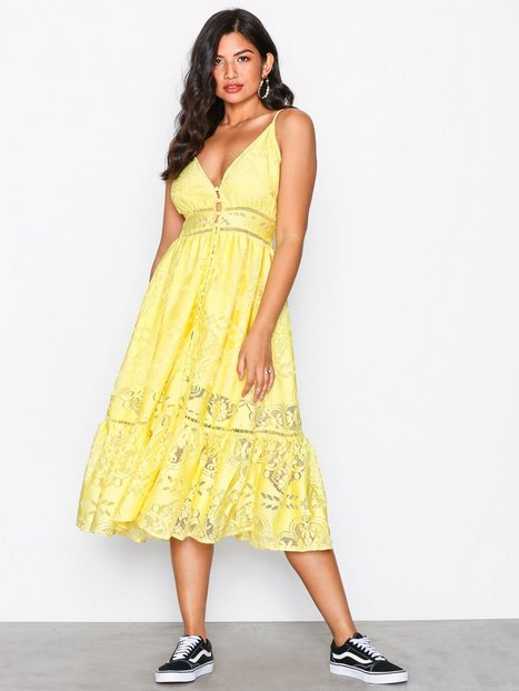 Billede af Kiss The Sky Buttercup Midi Dress Loose fit dresses Yellow