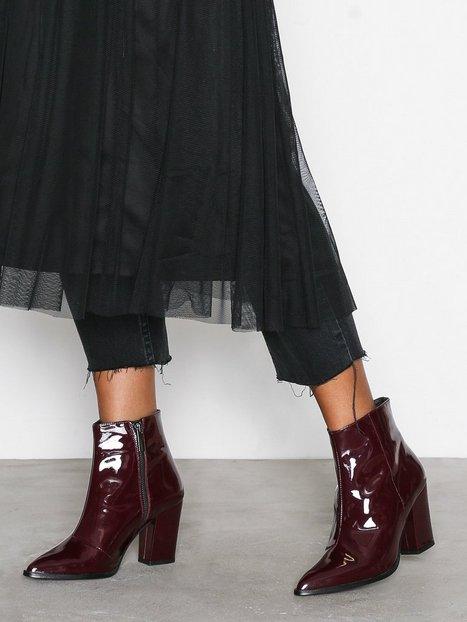Billede af Henry Kole Belle Ankle Boots Heel Burgundy