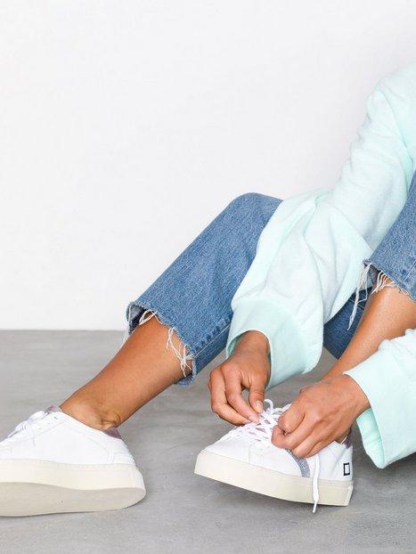 Billede af D.A.T.E. Sneakers Vertigo Calf Low Top Hvid/lyserød
