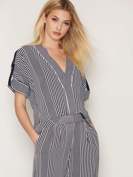 Billede af Michael Michael Kors Corsican Stripe S/S Top Bluser & Skjorter White