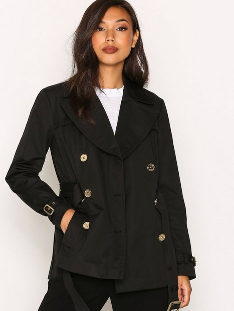 Billede af Michael Michael Kors Short Pleated Trench Trenchcoat Black