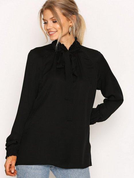 Billede af Michael Michael Kors Tie Neck Top Bluser & Skjorter Black
