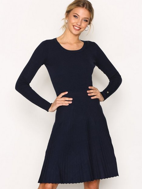 Billede af Morris Alexandrine Knit Dress Langærmet kjole Marine
