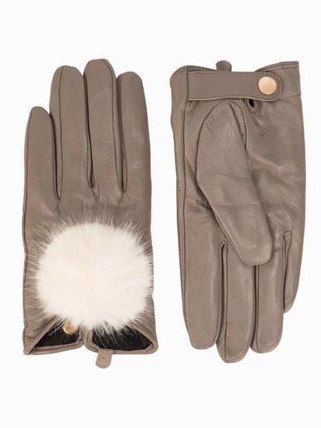 Pom Pom Leather Glove