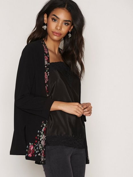 River Island Short Jacket Kavajer Black Print thumbnail