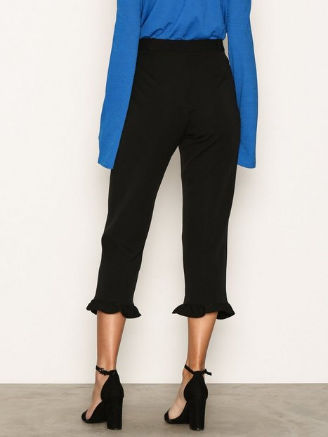 Frill Hem Cropped Trousers