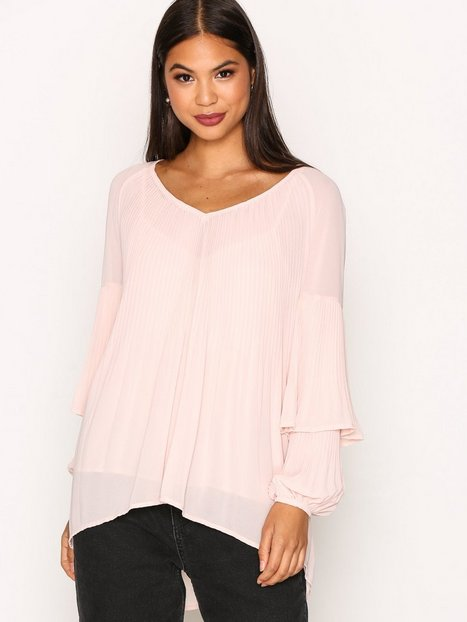 Billede af River Island Valencia Pleated Blouse Tunikaer Light Pink