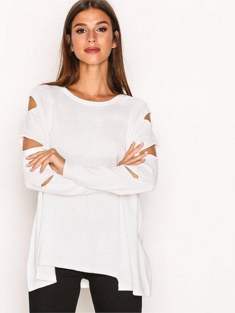 Billede af River Island Ambrose Cutout Knit Sweatshirt White