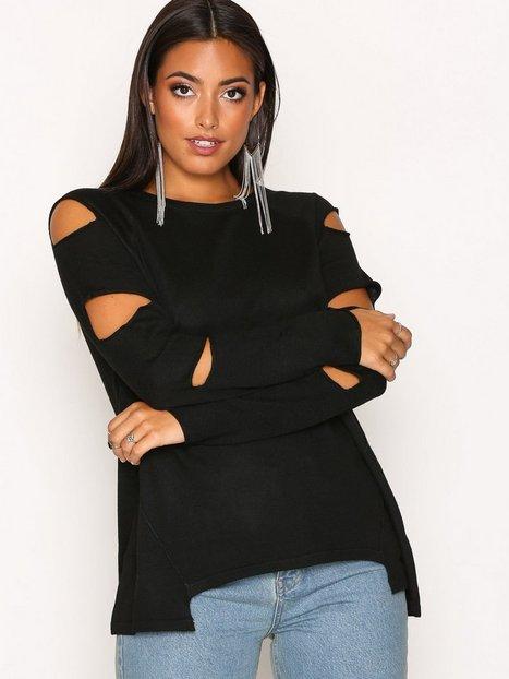 Billede af River Island Ambrose Cutout Knit Strikket trøje Black