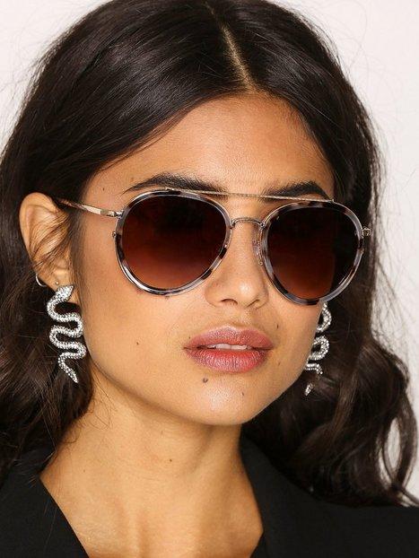 Billede af River Island Aviator Sunglasses Solbriller Gold