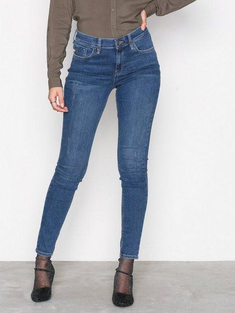 Billede af River Island Amelle Super Skinny Jeans Skinny Mid Blue