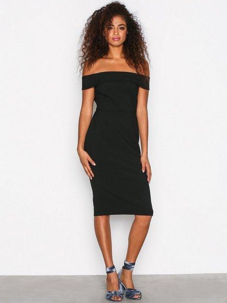 Billede af River Island Bardot Bodycon Dress Kropsnære kjoler Black
