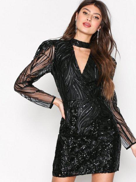 Billede af River Island Long Sleeve Bodycon Dress Kropsnære kjoler Black