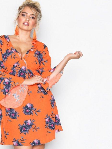 Billede af River Island Long Sleeve Waisted Dress Loose fit dresses Orange