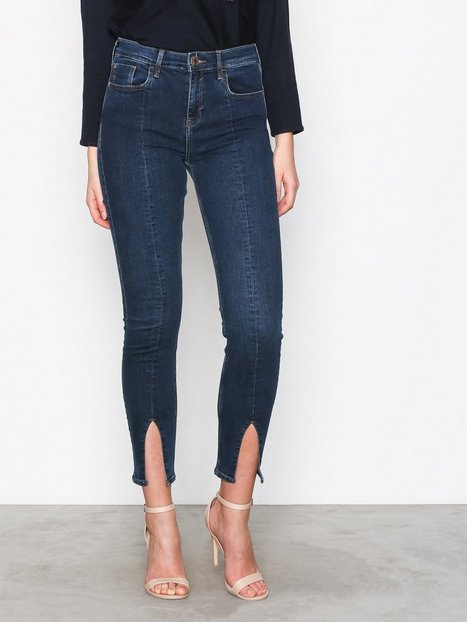 Skinny - Dark Blue River Island Fashion Split Jeans