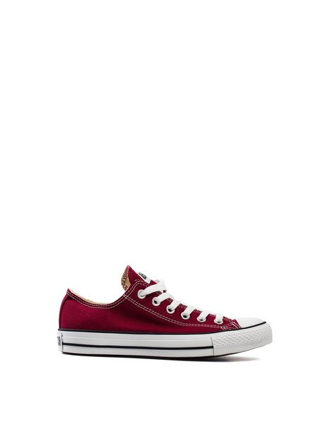 Billede af Converse All Star Canvas Ox Low Top Mørkerød