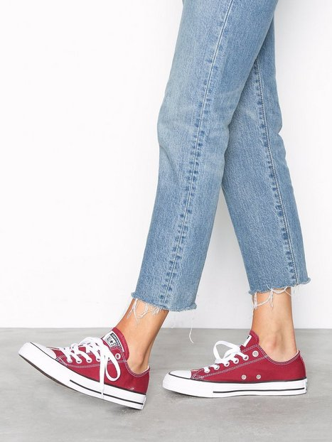 Billede af Converse All Star Canvas Ox Low Top Cream/Red