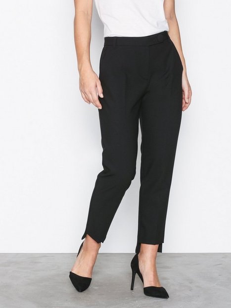 River Island Stepped Hem Cigarette Trouser Housut Black thumbnail