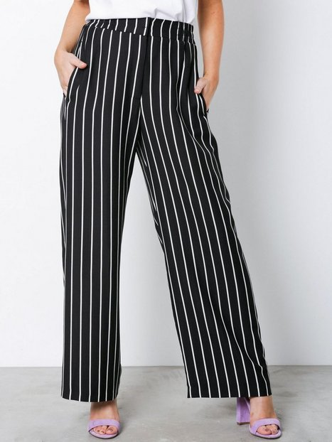 Womens Black stripe wide leg trousers River Island Outlet Shopping Online Sale Genuine 2018 New Online Popular i3UEqnpc