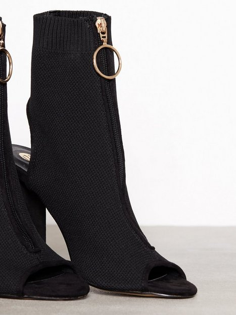 Knitted Zip Front Boot