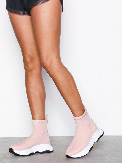 River Island Deano Sock Runner High Top Light Pink