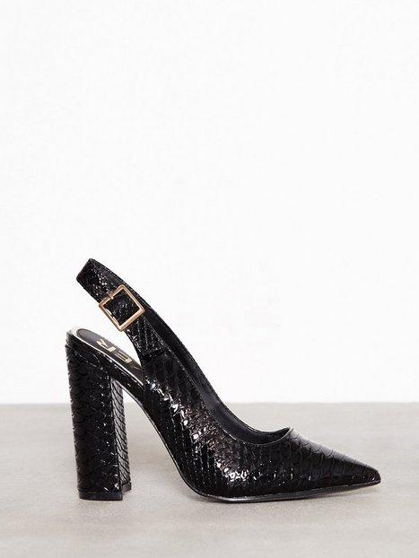 Billede af River Island Word Court Shoe Heels Black