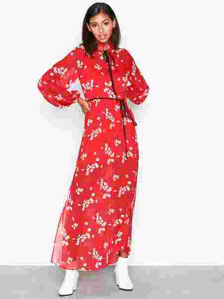 e5ded4eb278 Ls Floral Maxi Dress - River Island - Red - Dresses - Clothing ...