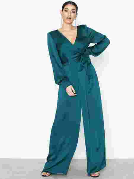 36fdc1cb77a Ls Shirred Jumpsuit - River Island - Teal - Jumpsuits - Clothing ...