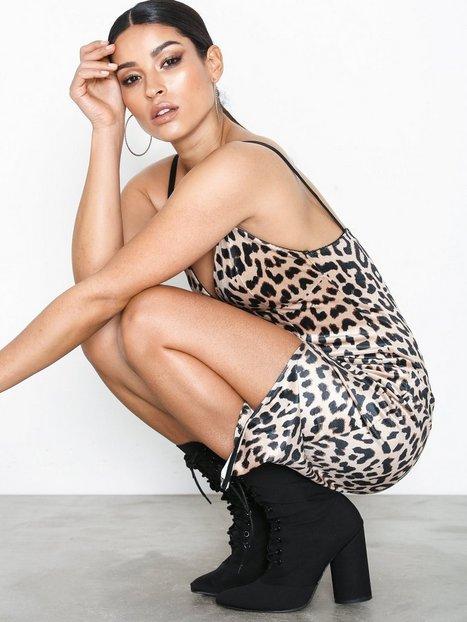Billede af River Island Leo Print Rib Bodycon Dress Kropsnære kjoler Leopard