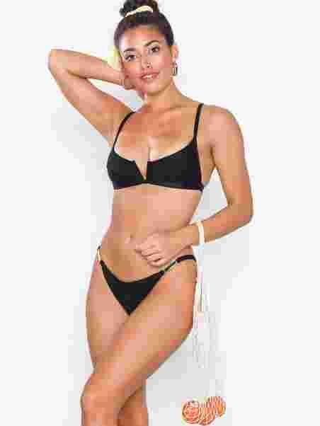 bf5bf184e33ab Strappy Brief - River Island - Black - Bikinis - Swimwear - Women ...