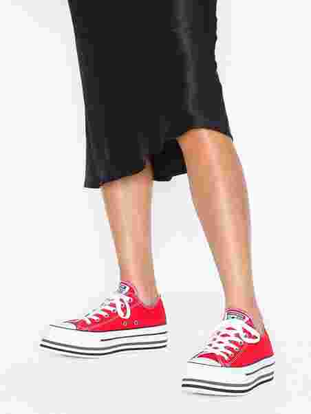 7865a5969e69 Chuck Taylor All Star Platform Layer Ox - Converse - Red - Sneakers ...