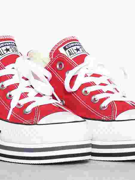 c4043ab7e485 Chuck Taylor All Star Platform Layer Ox - Converse - Red - Sneakers ...