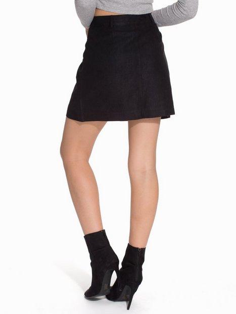 Suedette Popper Front Skirt