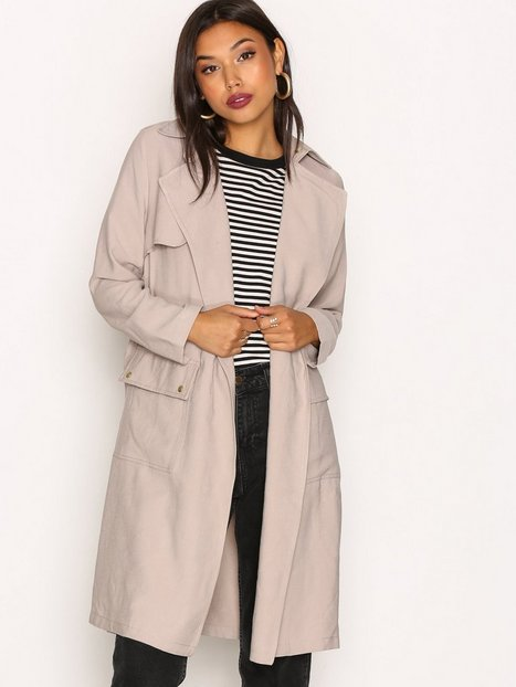 Billede af New Look Soft Belted Military Trench Coat Trenchcoat Stone