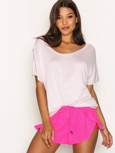 Billede af New Look Frill Trim Beach Shorts Strandtøj Pink