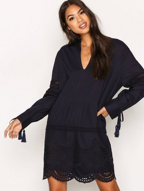 Billede af New Look Cotton Cutout Tunic Loose fit dresses Marine