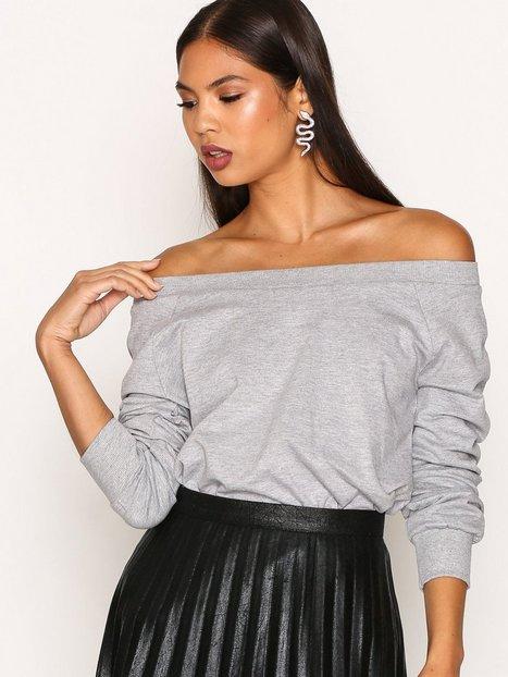 Billede af New Look Bardot Sweat Top Oversized Grey