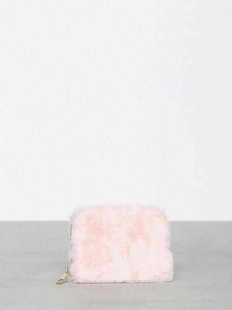 Billede af New Look Faux Fur Cardholder Pung Pink