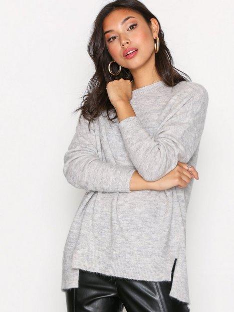 Billede af New Look Aspen Longline Jumper Strikket trøje Pale Grey