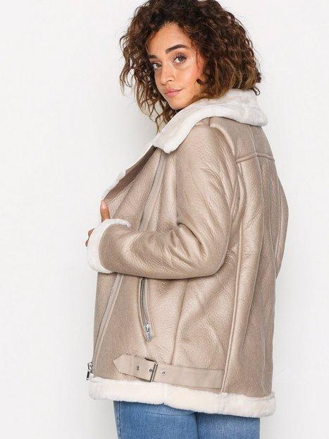 Fur Lined Aviator Jacket